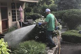 Giroud Spray Applicator Applies Mosquito Control Treatment